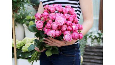 9 Пионовидных Кустовых роз #1